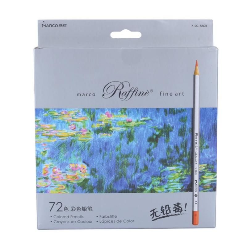 цена 72pcs Color Pencil Painting lapis de cor non-toxic lead Oily Color Pencil Writing Pen Office & School Supplies