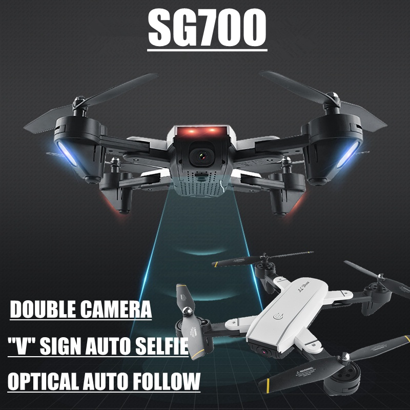 Auto Follow Drone With Camera Drone Double Camera Wifi Fpv Quadcopter Selfie Rc Toys Sg700 Helikopter Vs Xs809hw Sg600 Oyuncak