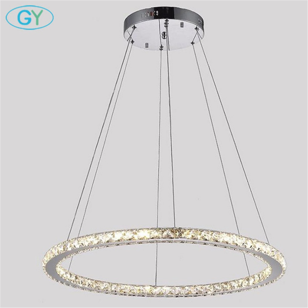 30W D70cm Large LED Chandeliers For Dining Room Living Room Industrial Store LED crystal Ceiling Lustres Lamp nordic light|Chandeliers| |  - title=