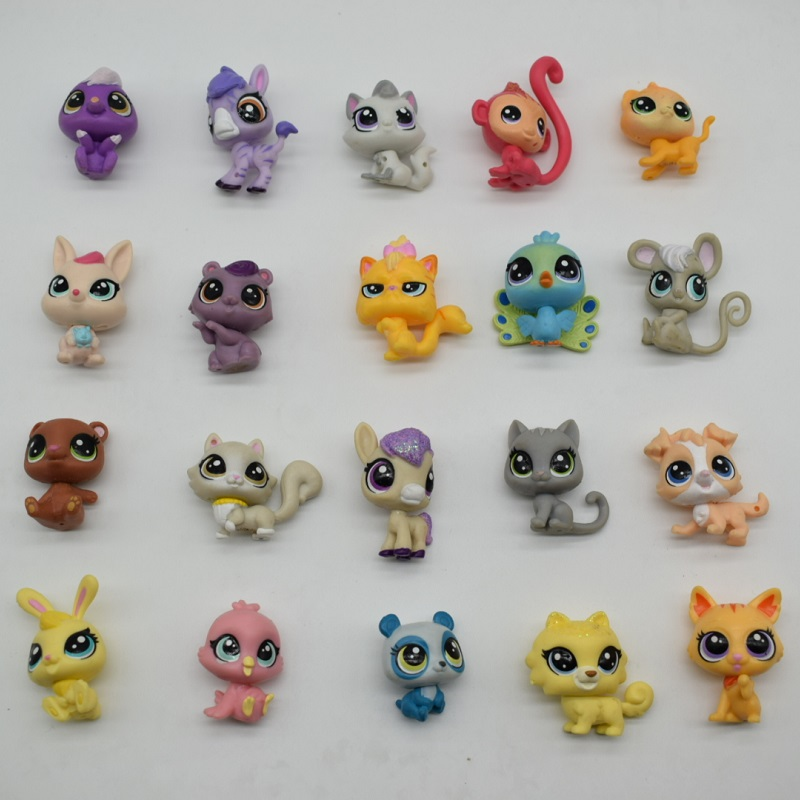 LPS Toy bag 20 pcs/set Pet Shop Animals Cats and Dogs  Action Figures PVC Toys for children Birthday/Christmas Gift 3-4cm pvc figure wild animals toy leopard model panther tiger toys children birthday gift toys holiday gift ornaments 4pcs set