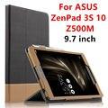 Case For ASUS ZenPad 3 S 10 Защитные Смарт Кожаный чехол Таблетка Для asus ZenPad 3 s 10 Z500M 9.7 дюймов PU Protector Sleeve Case