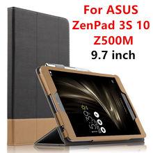 Case para asus zenpad 3 s 10 tableta protector de la cubierta elegante de cuero para asus zenpad 3 s 10 z500m 9.7 pulgadas pu manguito protector case