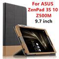 Case para asus zenpad 3 s 10 tablet couro protetora smart cover para asus zenpad 3 s 10 z500m 9.7 polegada pu protector sleeve case