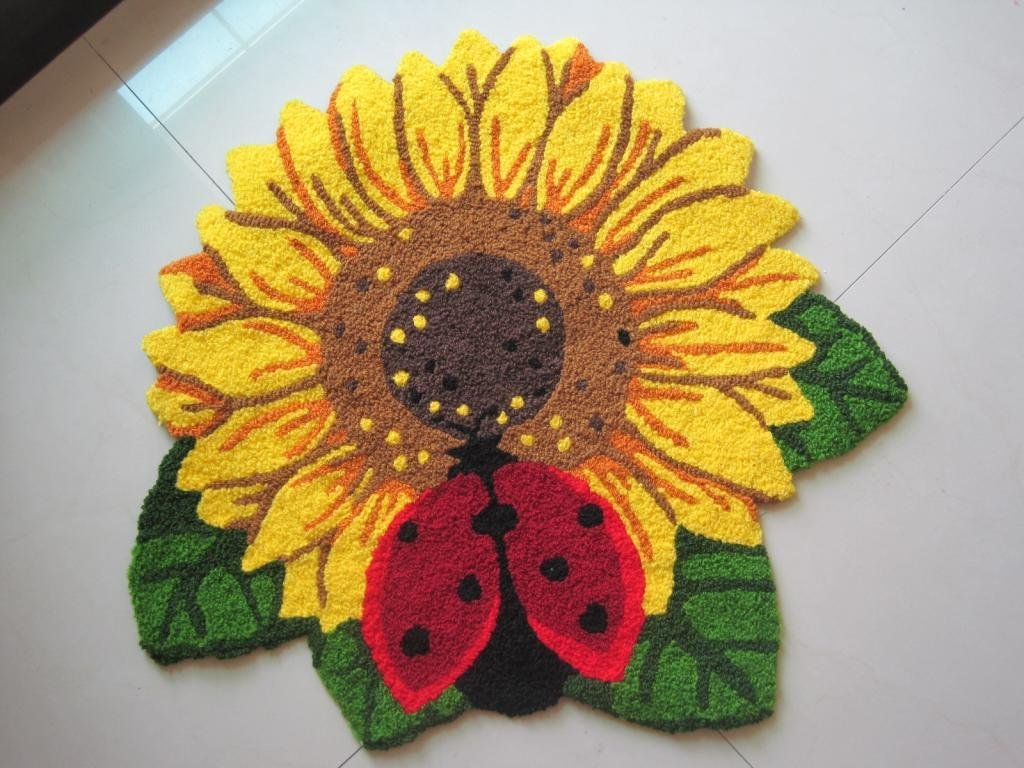 Buy sunflower shaped rug Online with Free Delivery