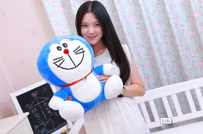 cartoon figure anime smile Doraemon plush toy large 50cm soft throw pillow toy birthday gift b4913