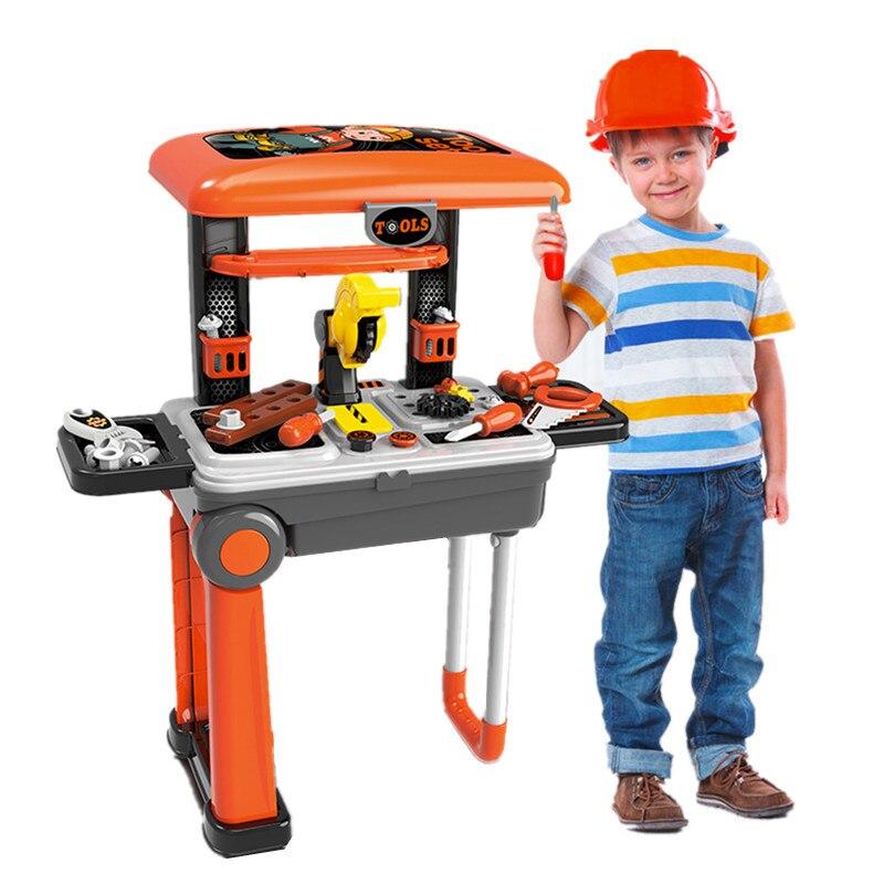 Enfants boîte à outils ensemble jouets éducatifs Simulation réparation outils perceuse tournevis ingénierie entretien outil jouets cadeaux pour garçon