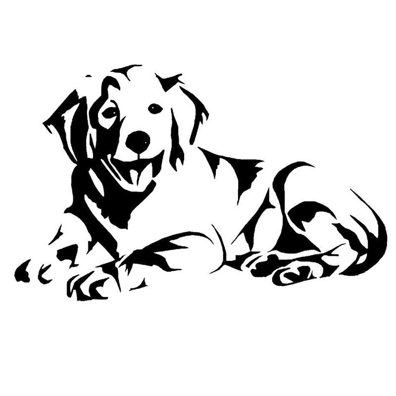 14 29 1cm labrador dog car stickers lovely vinyl decal car styling truck motorcycle decoration black silver s1 0908 in car stickers from automobiles