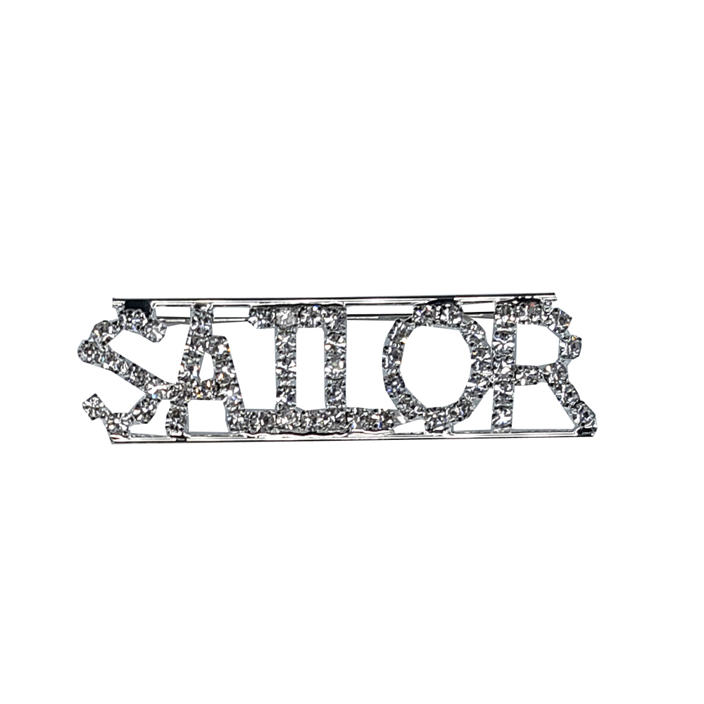 Custom Professions&Jobs Theme Crystal Lapel Pin SAILOR Word Brooch Gift Wholesale 6PCS/LOT FREE SHIPPING