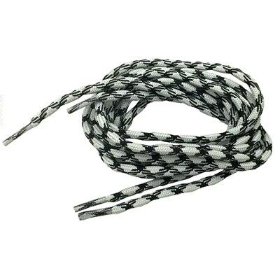 Нескользящие круглые шнурки для альпинизма разные цвета 120 см/47 дюймов - Цвет: Light Grey and black