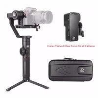 Zhiyun Crane 2 3 Axis Handheld Gimbal Stabilizer + Crane 2 Servo Follow Focus,for All Canon Nikon Sony Panasonic Cameras
