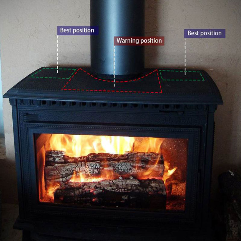 4 Blades Heat Powered Eco Stove Fan Black/Gold/Sliver Warm Air Than 2 Blade Stove Fan For Wood/Log Burner /Fireplace