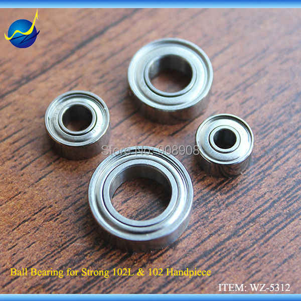 2019 Real 4pcs Spare Parts Components Micro Ball Bearing For 204 & 90 Micromotor STRONG 102L & 102 Brush Motor Handpiece Drill