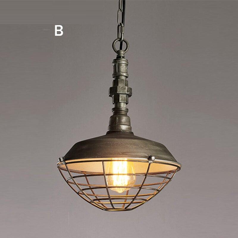Luminaire suspendu de Style industriel Loft lampes suspendues rétro lampe pendante minière créative pour Luminaire de Restaurant Edison - 3