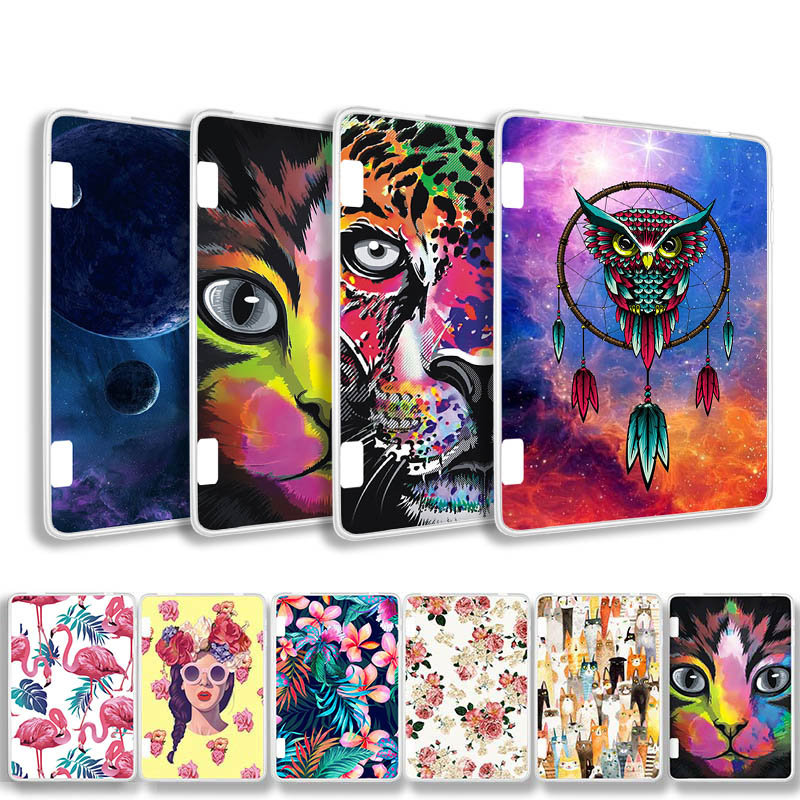 Painted Cover Case for Amazon Kindle Fire HD7 2014 Silicone Soft TPU Tablet For HD 7 7.0 Bags