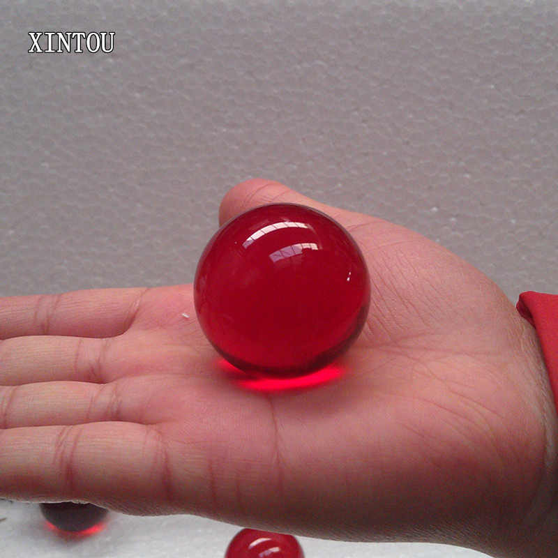 XINTOU 1 Piece Red Crystal Sphere Ball Natural Raw Amber Stone Feng shui Indoor Water Fountains Home Decoration Accessories