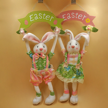 Online shop easter decoration foreign type handicrafts cloth art seller recommendations the easter bunny rabbit easter holiday gifts hanging wood fabric handmade jewelry creative ornaments recommended negle Gallery