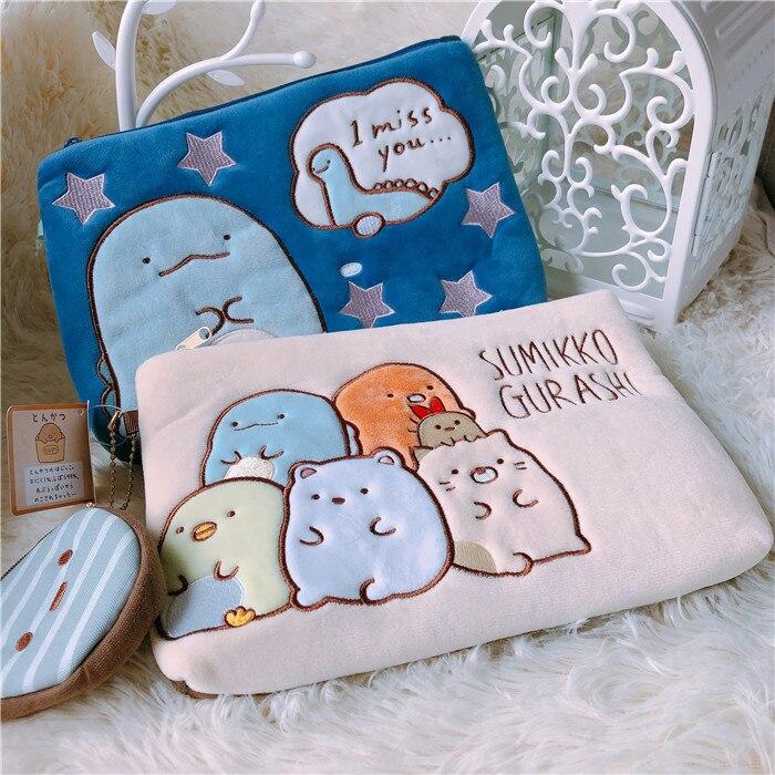 2pc/set Cartoon Sumikko Gurashi Anime Plush Coin Purse Soft San-x Plush Bags Pouch Wallet Card Bags For Kid Gifts