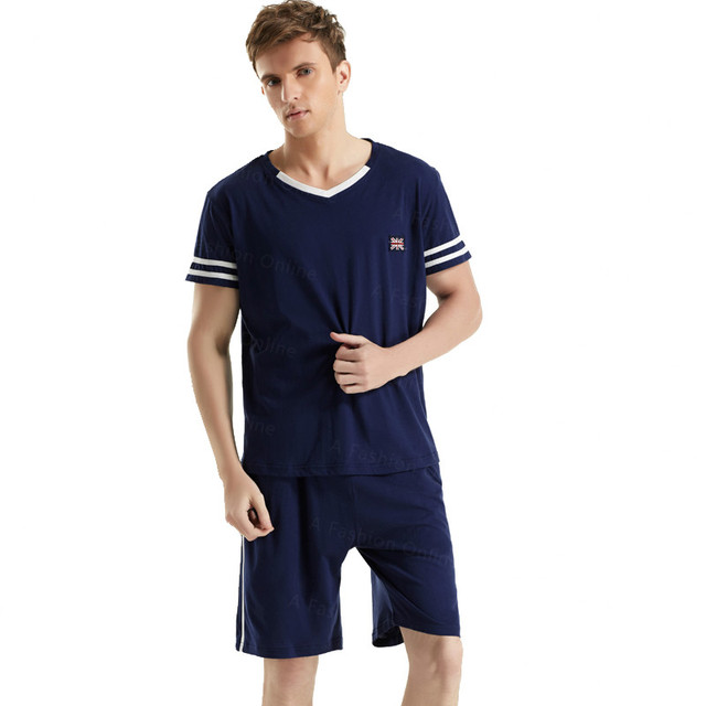Summer Lovers Pajamas Short Sleeved Pajama Sets Cotton Tops Flag T Shirts  Men's Tracksuits Runner Jogger Casual Sportwear