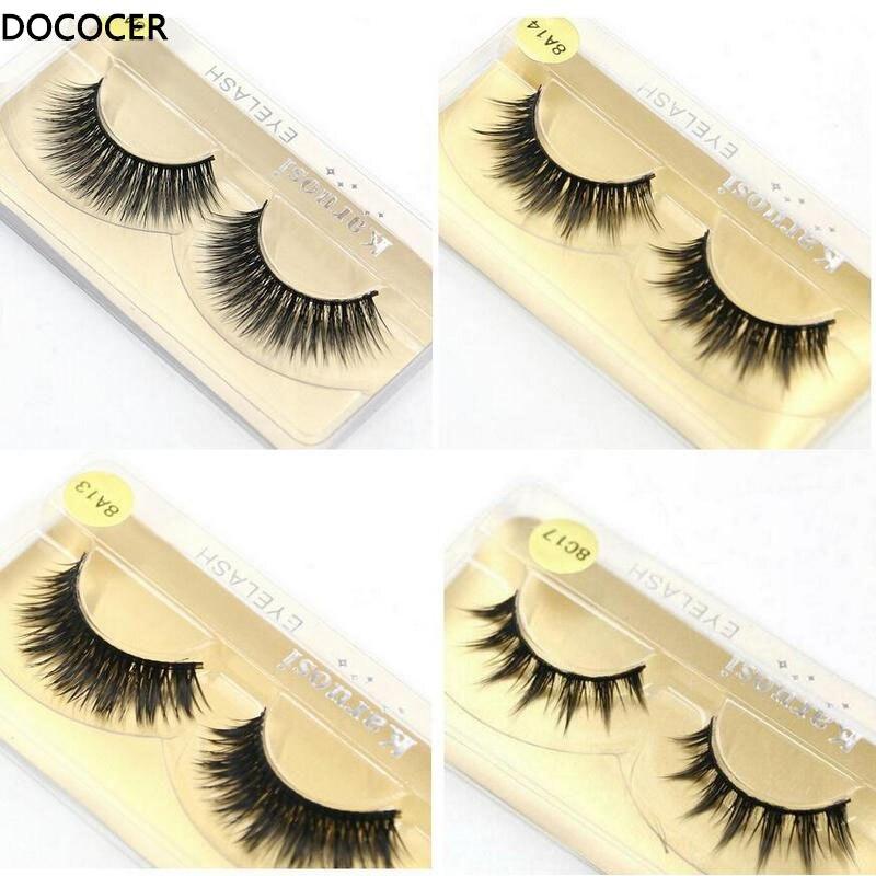50 pairs/lot Wholesale Eyelashes faux mink lashes Handmade false eyelash 3D strip mink eyelashes fake faux eyelashes Makeup craft