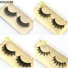 50 pairs/lot Wholesale Eyelashes faux mink lashes Handmade false eyelash 3D strip mink eyelashes fake faux eyelashes Makeup