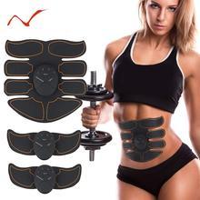 EMS, беспроводной стимулятор мышц, тренажер, умный фитнес, тренировка живота, Электрические наклейки для похудения, унисекс