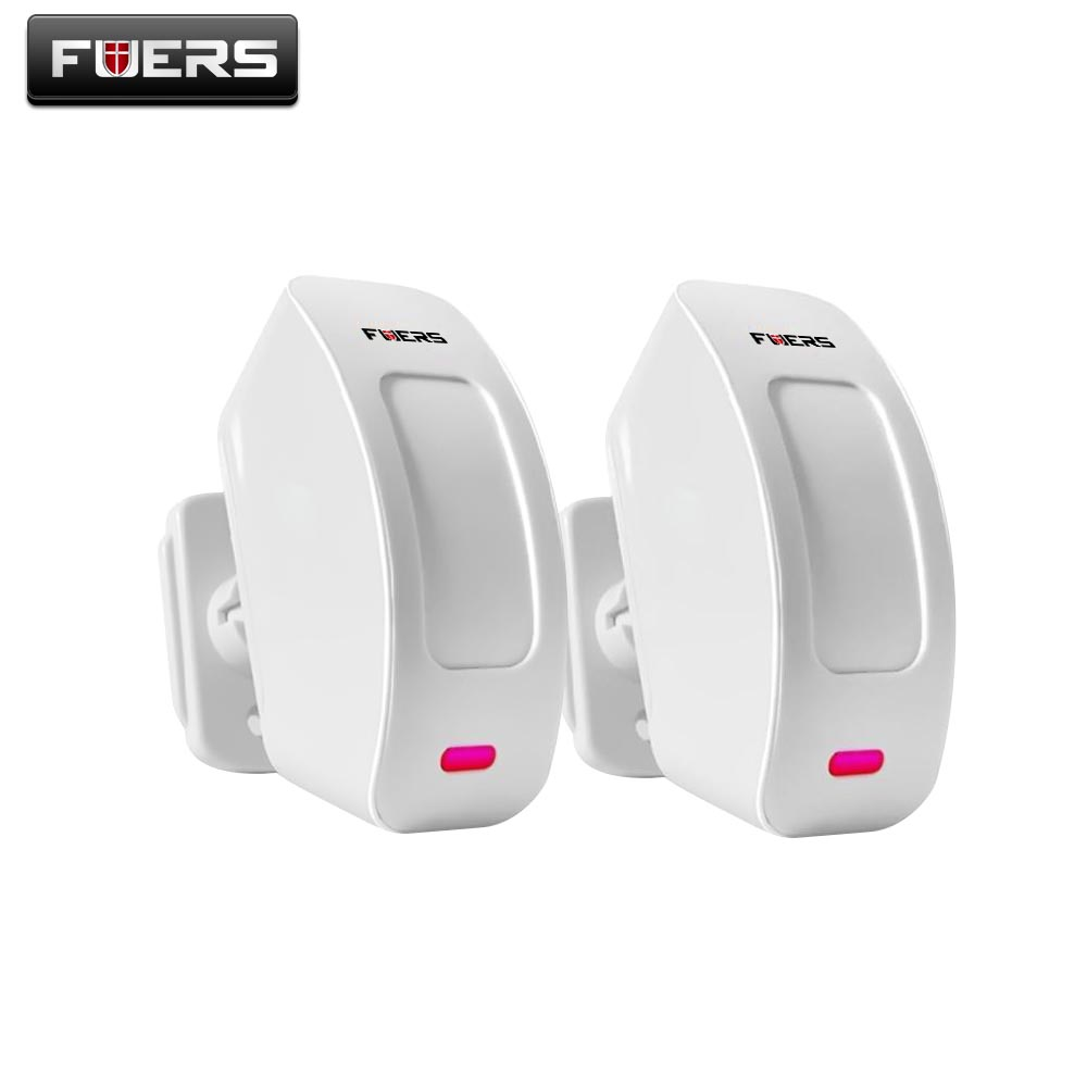 2pcs Fuers Wireless Window Curtain PIR Motion Detector Sensor for Home Alarm System 433Mhz for G19 G18 8218G M7 Alarm System