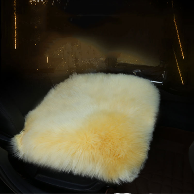 O SHI AUTO Echtem Schaffell Stuhl Sitz Pad Auto Sitz Abdeckung Kissen mit Straps 18