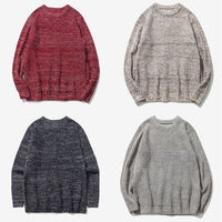 Hirigin Men Chunky Cable Knit Jumper Plain Pullover Thick Warm Winter Knitted Sweater
