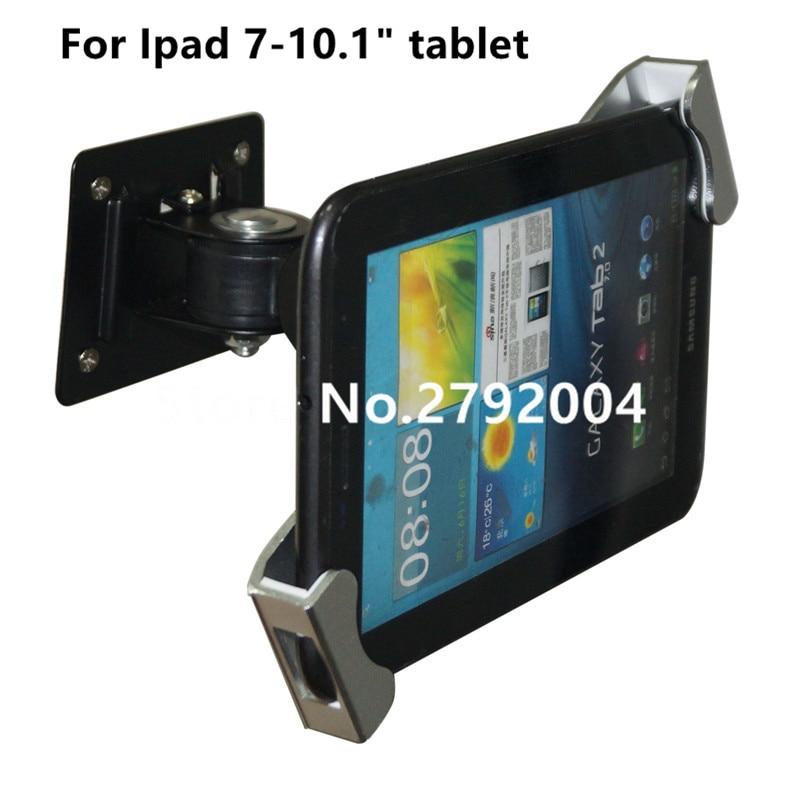 все цены на Metal Ipad security stand case flexible tablet wall desk mount tablet display holder lock enclosure with keys for 7-10