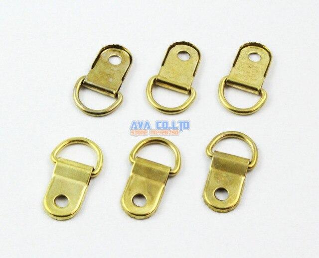100 Pieces Gold Photo Frame Hook Hanging Photo Frame Hanger 25x10mm ...