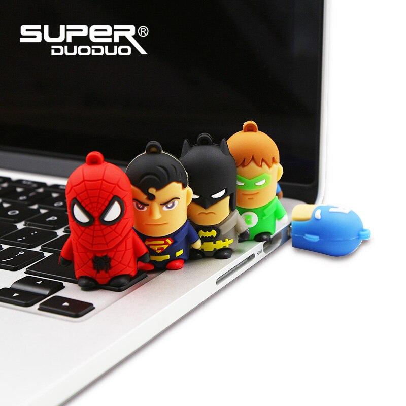 Image 5 - Superheros pendrive 4GB 8GB 16GB cheap Usb flash drive 32GB 64GB cartoon pen drive batman/spiderman/Captain America memoria usb-in USB Flash Drives from Computer & Office
