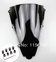 FREE SHIPPING New Black Windscreen Windshield For Yamaha YZF R1 2000 2001