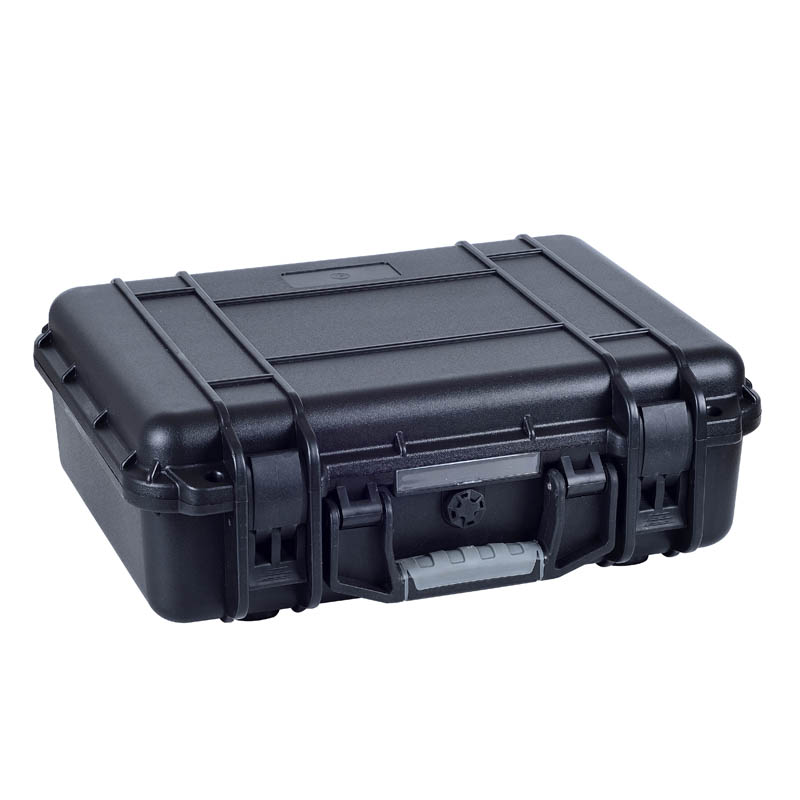 Hot sale black abs hard carrying tool case with pick pluck foam light weight black hard abs plastic storage tool case without foam
