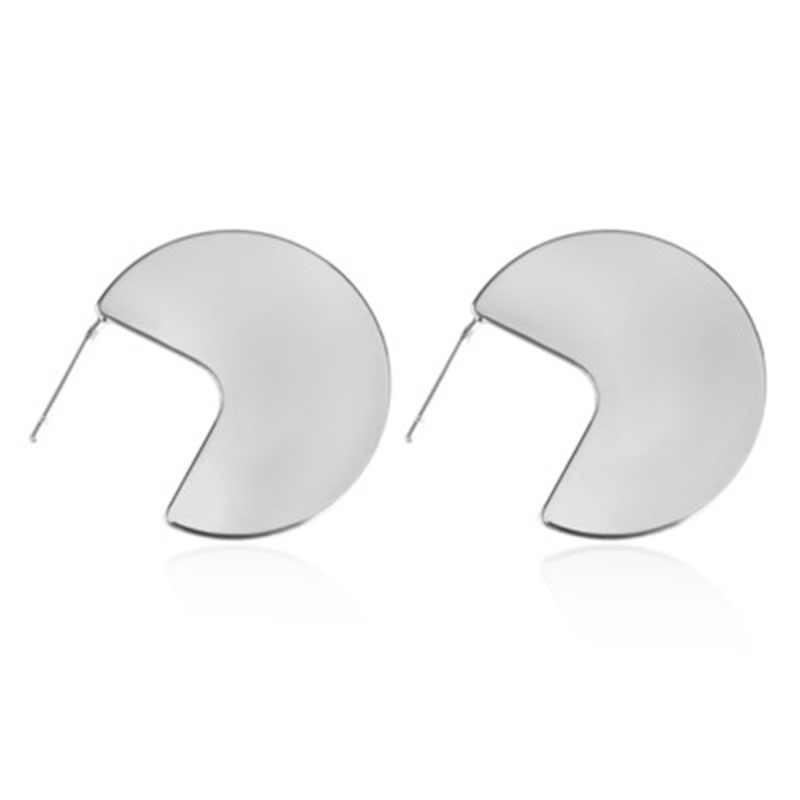 مبالغة الشرير الصخرة المعادن الهندسة مروحة شكل 925 الفضة أقراط للنساء شخصية 2019 جديد أزياء الأقراط WD203