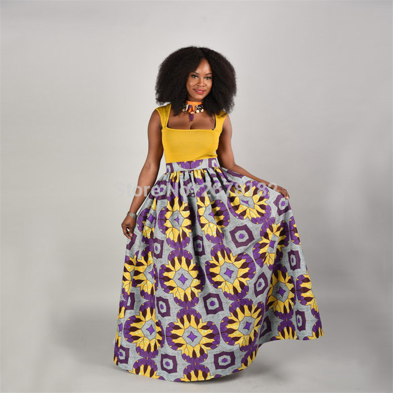 African Dress Clothing Rushed Hot Sale Polyester 2019 National Wind Digital Printing Elegent Hot-selling Women Skirts