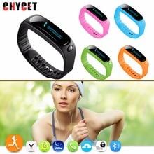 Chycet E02 Водонепроницаемый smart bluetooth браслет smartbands спортивные Напульсники группа для iPhone 6 5S 5 Samsung S6 S5 S4 Note3 HTC