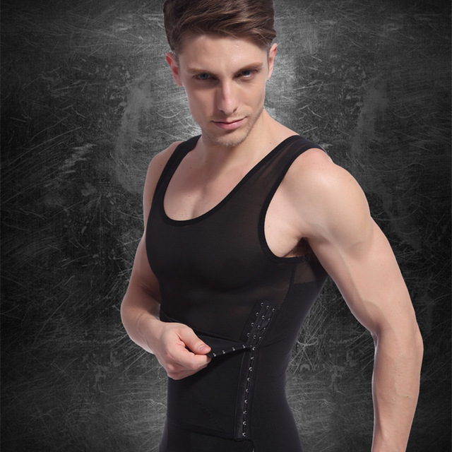 c2cac6e311c 2019 Men s Sexy Slimming Body Shaper Belly Fatty Thermal Underwear Vest  Shirt Corset Compression Best Gift
