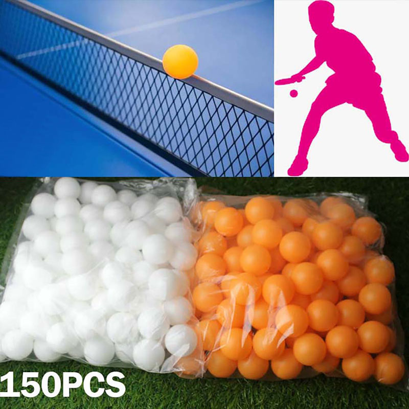 Forfar 150Pcs 38mm High Quality One-Star Beer Ping Pong Balls Washable Drinking Practice Table Tennis Ball Sports Yellow White