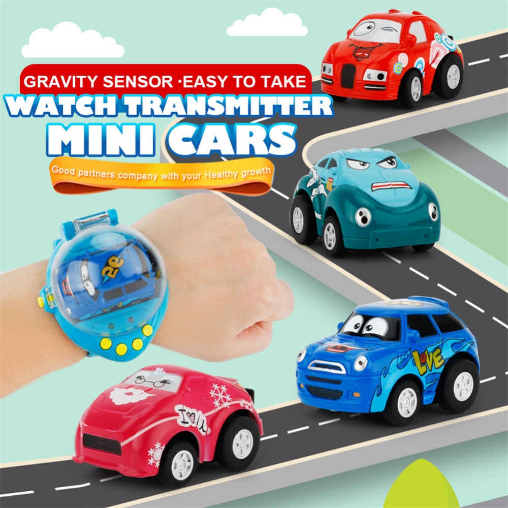 New 1:58 Mini Cartoon Gravity Sensing Watch Remote Control Car For Children With Window Box best gift to Children toys