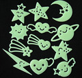 Children's stereo cute cartoon fashion stars luminous fluorescence wall act the role ofing is tasted