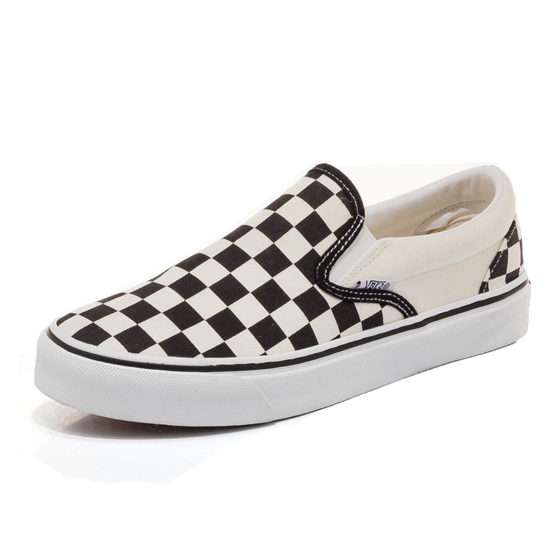 The new lazy shoes a pedal female student Harajuku style plaid canvas shoes. in the spring of 2017 new products a pedal lazy leopard shoes stitching sponge thick bottom leisure shoes