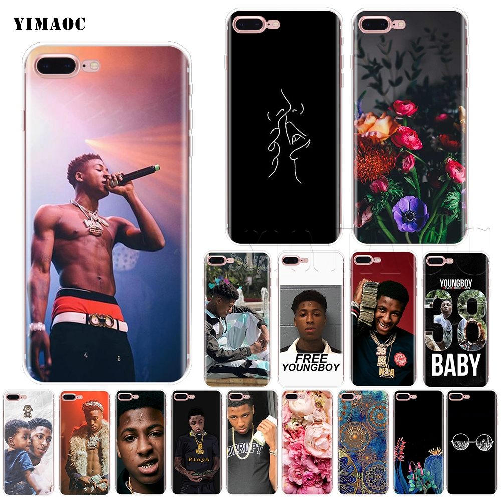 new arrival f5614 cc5d7 YIMAOC Youngboy Never Broke Again Soft Silicone Case for iPhone XS Max XR X  8 7 6 6S Plus 5 5s se