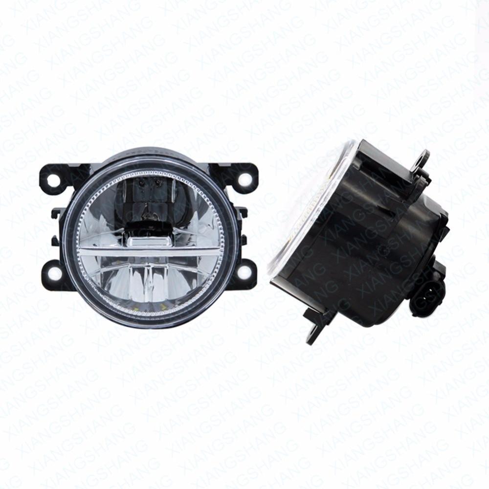Светодиодные Передние противотуманные фары для Пежо 4007 GP_ автомобилей 2007-2012 2013 Стиль круглый бампер DRL дневного вождения противотуманные фары