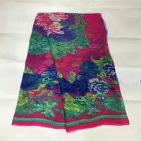 Wholesale 5yards Width 140cm 100 Real Mulberry Silk Chiffon Print Pattern Fabric For Dress DIY Sewing