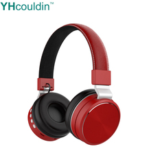 YHcouldin Bluetooth TF Card Headphones Wireless Sport Noise Cancelling Headset With Microphone For Samsung Xiaomi Huawei Honor