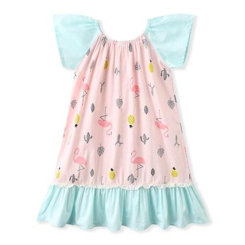 Baby Girl Pink Flamingo dress, Flamingo girls dress (2)