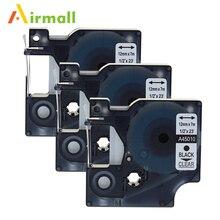 Airmall 3 упак./лот Совместимость DYMO D1 ленты этикетки 12 мм черный на 45010 для Dymo LabelManager 160 280 420 P PNP 220 P 360D
