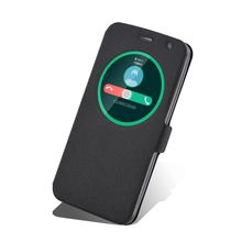 Smart Sliding answer open window flip leather cases for ASUS Zenfone 2 laser phone ZE550KL/Z00LD 5.5' phone protector sets case
