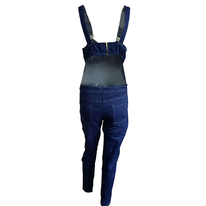86f8a56aeb0b Summer Sexy Backless jumpsuit playsuit Jeans Slim Blue Pants Denim Jumpsuit  Sleeveless bodysuit Women Trousers With Belt F780-in Jumpsuits from Women s  ...
