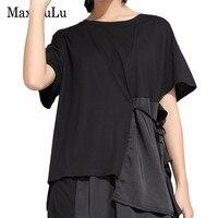 Max LuLu 2019 Summer Korean Fashion Style Ladies Punk Clothes Womens Oversized Patchwork T Shirt Female Casual Kawaii Tee Shirts